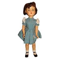 "Arranbee Vintage 1950s Brunette 21"" Debuteen Doll"