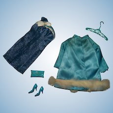 Barbie Vintage Complete Sears Beautiful Blues Giftset Outfit
