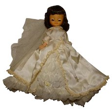 """American Character 1950s 8"""" Betsy McCall Doll w/Bride Dress"""