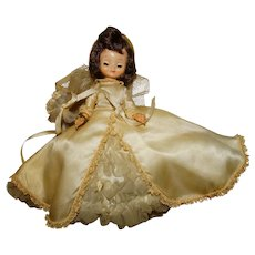 """American Character 1950s 8"""" Betsy McCall Doll w/Wedding Dress"""