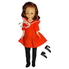 """American Character 1950s 8"""" Betsy McCall Doll w/Orange Dress"""
