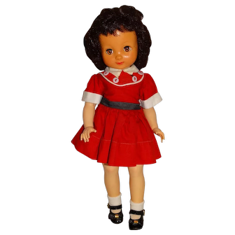"American Character 1950s 14"" Betsy McCall Doll w/Red Outfit"