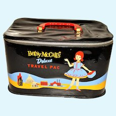 Vintage Betsy McCall Black Train Case