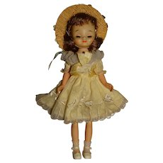 """American Character 1950s 8"""" Betsy McCall Doll w/Yellow Dress"""