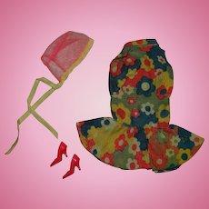 Vintage Barbie/Francie Bloom Bursts Color Magic Outfit