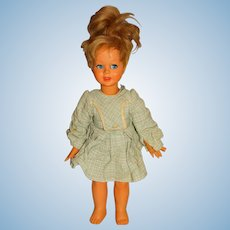 "Bonomi Italy 1960s Blonde 16"" Doll w/Green Dress"