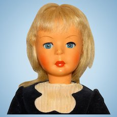 "Bonomi Italy 1960s Blonde 17"" Walking Doll"