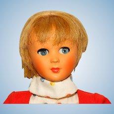 "Bonomi Italy 1960s Blonde 13"" Flirty Eyed Jenny Doll"