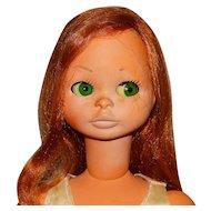 """Bonomi Italy 1960s Redhead 24"""" Kitty Doll"""