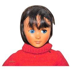 """Bonomi Italy 1960s Brunette 19"""" Doll"""