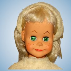 "Vogue 1960 Platinum Blonde 16"" Brikette Doll"