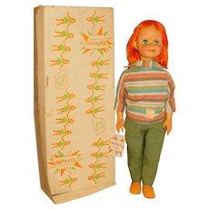 """Vogue 1960 Redhead 22"""" Brikette Doll w/Tag & Box"""