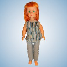 """Vintage 1960s Unmarked 19"""" Carrot Red Brikette Jolly Jinx Clone Doll"""