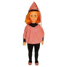 "Vogue 1960 Redhead 22"" Brikette Doll w/Pajamas Outfit"