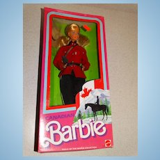 Barbie NRFB 1987 Dolls Of The World Canadian Doll