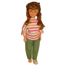 """Vintage 1960s Unmarked 20"""" Blonde Brikette Clone Doll w/Braids"""
