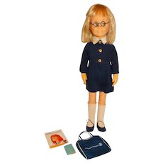 Mattel 1961 Blonde Charmin' Chatty Doll w/American Airlines Outfit