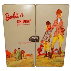 Vintage Barbie Tan Equestrian Trunk Case