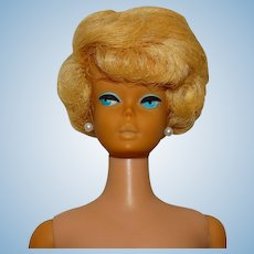 Vintage Platinum Blonde European Side Part Bubblecut Barbie Doll