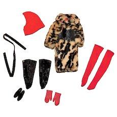Vintage Francie Complete Fur Out Outfit