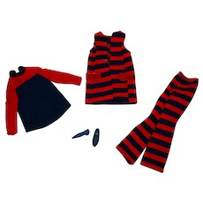 Vintage Francie Complete Striped Types Outfit