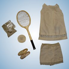 Vintage Francie Complete Tennis Tunic Outfit