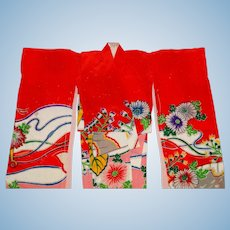 Vintage Barbie Complete Japanese Exclusive Furisode Kimono Outfit