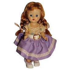 """Vogue 1950s Dark Blonde 8"""" Walking Ginger Doll"""