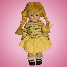 """Vogue 1950s Blonde 8"""" Ginny Doll w/Braids"""