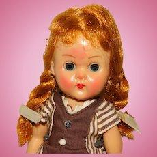"Vogue 1950s Redhead Braids 8"" Walker Ginny Doll w/Fever Blush"