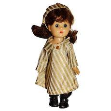 "Vogue 1950s Brunette 8"" Bent Knee Ginny Doll"