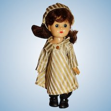 "Vogue 1950s Brunette 8"" Bent Knee Ginny Doll"