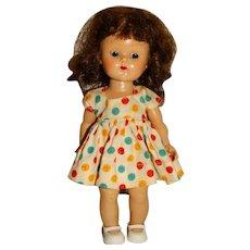 "Vogue 1950s Brunette 8"" Walking Ginny Doll w/Tagged Dress"
