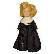 "Vintage Unmarked Blonde 8"" Ginny Walker Nun Doll"