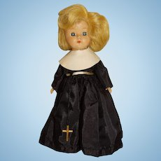 "Vintage Unmarked Blonde 8"" Ginny Walker Nun Doll"