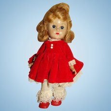 """Vogue 1950s Blonde 8"""" Ginny Walker Doll w/Red Outfit"""