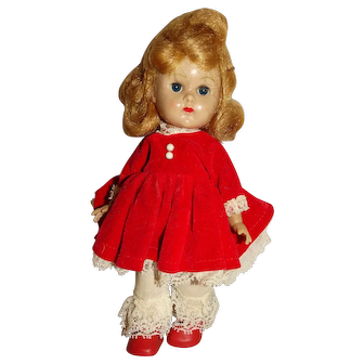 "Vogue 1950s Blonde 8"" Ginny Walker Doll w/Red Outfit"