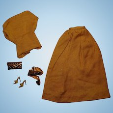 Vintage Barbie 99% Complete Golden Evening Outfit