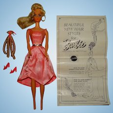 Vintage Blonde Growin' Pretty Hair Barbie Doll w/Instructions