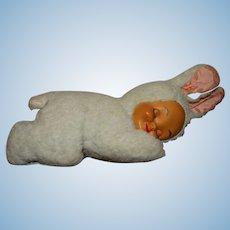 Gund 1950s Sleeping Baby Bunny Doll