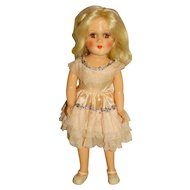 """Vintage 1950s Mary Hoyer 14"""" Blonde Doll"""