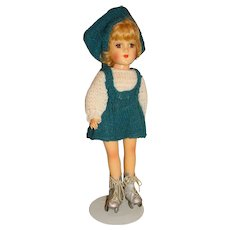 "Vintage 1950s Mary Hoyer 14"" Roller Skating Doll"