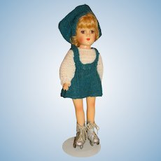 "Vintage 1950s Mary Hoyer 14"" Roller Skating Doll"