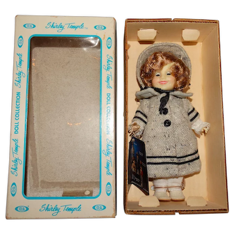 """Ideal 1982 NRFB Shirley Temple 8"""" Dimples Doll"""