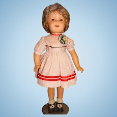 """Ideal Vintage 1930s Composition 28"""" Shirley Temple Doll"""