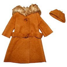 Vintage Barbie Complete Brown It's Cold Outside Outfit