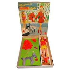 Vintage 99% Complete Sears Walking Jamie Furry Friends Giftset w/Box