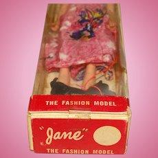 Vintage MIB 1960s Hong Kong Brunette Jane The Fashion Doll Clone