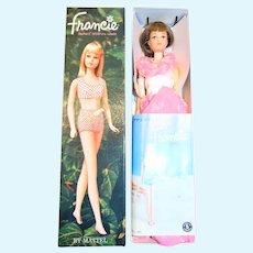 Vintage MIB Japanese Exclusive Brunette #2229 Dressed Box Francie Doll