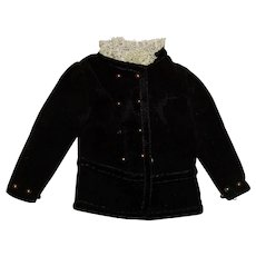 Vintage Barbie Japanese Exclusive Black Velvet Jacket TLC